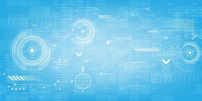 Technische versnellingen en digitaal displayontwerp vector