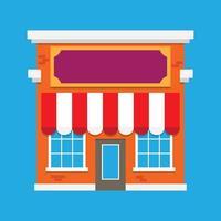 Winkelgebouw pictogram vector