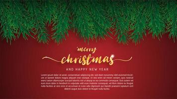 Merry Christmas wenskaart. vector