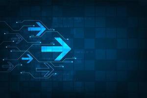 Gloeiend blauw tech pijlpatroon vector