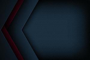 Donkerblauwe en rode abstracte gesneden document hoekachtergrond
