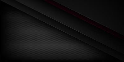 Zwarte en rode abstract gesneden papier achtergrond vector