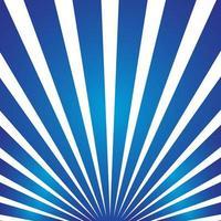 Blauwe zon barstte stralen