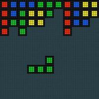 Oude videospel vierkante sjabloon vector