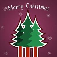 Merry Christmas wenskaartsjabloon vector