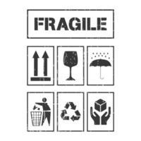 Labels voor pakketafhandeling vector