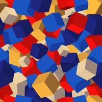 Naadloze patroonachtergrond met kubussen