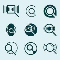 Vergrootglas icon set