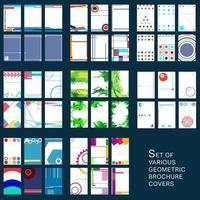 Geometrische ontwerpomslagen voor brochure vector