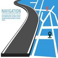 Navigatie met pin pointer vector