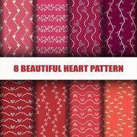 Naadloze hart collectie patroon set
