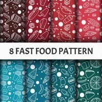 Fast-food patroon ingesteld. vector