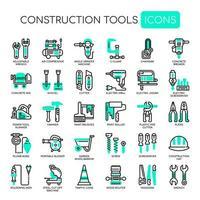 Hulpmiddelen van de bouw Dunne lijn en Pixel Perfect Icons vector