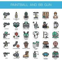 Paintball en BB Gun, Thin Line en Pixel Perfect Icons