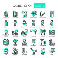 Barber Shop, Thin Line en Pixel Perfect Icons vector