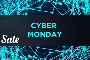 cyber maandag verkoop laag poly banner