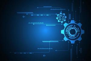 Blauwe tech versnellingen abstracte achtergrond vector