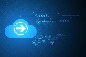 Digitale cloud technische achtergrond vector
