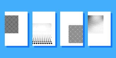 Halftone covers brochures sjabloon