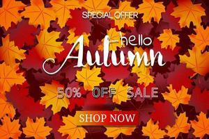 Hallo herfst uitverkoop vector