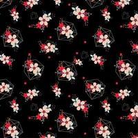 bloemmotief met geometrische vormen vector