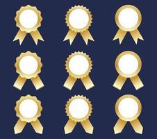 Collectie van gouden award linten