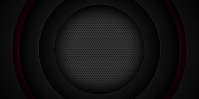 Zwart gelaagd gesneden papieren cirkelontwerp
