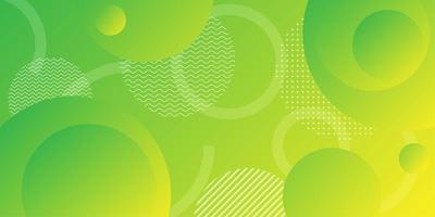 Neon geel groen kleurverloop achtergrond met overlappende ronde vormen
