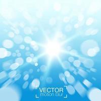 Onduidelijk beeld bokeh effect lichte vlekken op blauwe achtergrond vector