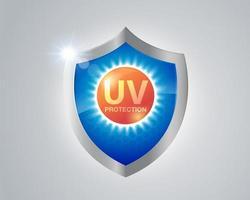UV-bescherming schildontwerp vector