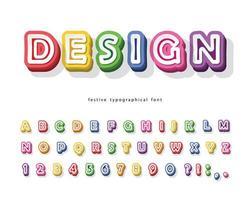 Modern 3d helder lettertype.
