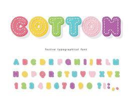 Cartoon kleurrijke lettertype voor kinderen.