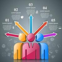 Mensen pictogram. Zakelijke infographics.