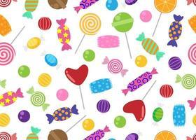 Naadloos patroon van snoepjes en suikergoed vector