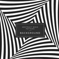 Het zwart-witte abstracte patroon van optische illusiegolven