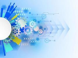 Vector abstracte achtergrond toont de innovatie van technologie