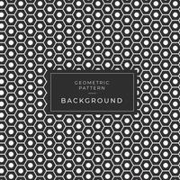 Modern zwart-wit zeshoek naadloos patroon