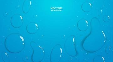 Regendruppels op blauw kleurverloop vector