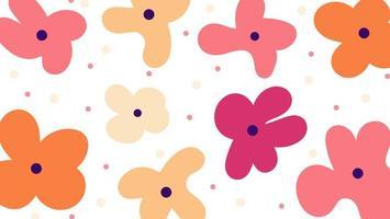 Modern organisch vormen bloemenbehang vector