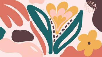 Modern organisch vormen bloemenpatroon vector