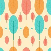 Kleurrijk bladerenpatroon met moderne vormen vector