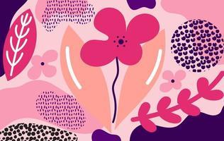 Modern abstract roze bloemenontwerp vector