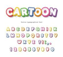 Cartoon helder lettertype voor kinderen.