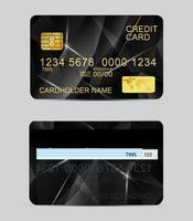Veelhoek textuur realistische creditcardsjablonen vector