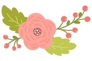 Antieke rozen en takken