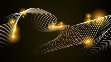 gouden lijn abstracte illustratie vector