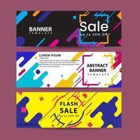 Abstracte beweging banners. Kleurrijke geometrische vormensamenstelling