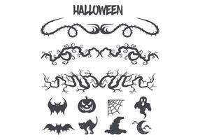 Halloween afbeeldingen en decoraties ingesteld