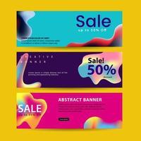 Set van abstracte moderne grafische vloeibare banners