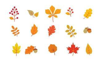 Herfstbladeren ingesteld